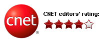CNet editor 4 star rating